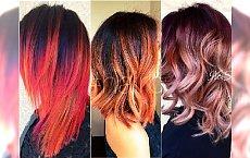 Pomysł na kolorowe pasemka i refleksy. Wypróbujcie brzoskwinię, rose gold i ogniste rudości!