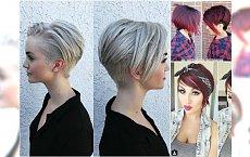 Krótkie fryzury z grzywką dla włosów za ucho - 30 super propozycji prosto z salonu