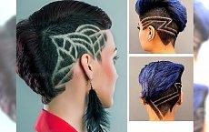 Hair tattoo: krótkie fryzury z wzorkami, przypominającymi tatuaże!