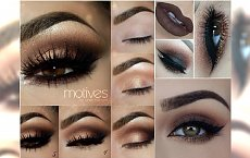 Brązowy makijaż oczu: zmysłowy smoky eyes i złota kreska. Absolutnie urzekający!