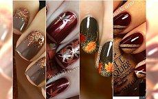 Modny manicure na jesień - DUŻA GALERIA wzorków