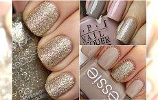 Elegancki manicure z domieszką złota - lepszy niż niejedna biżuteria