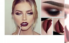 Romantyczny makijaż z bordowym akcentem na ustach - idealny na Walentynki