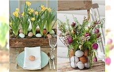 Dekoracje wielkanocne z kwiatami - stroiki, gniazdka, bukiety