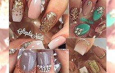 Bogato zdobione paznokcie na majówkę!