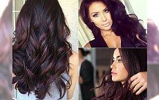 Plum hair - śliwkowy odcień brązu, w którym zakochały się światowe fashionistki!