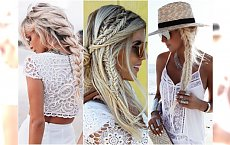 Letnie fryzury z warkoczem w odcieniu białego blondu - hit sezonu! Zobaczcie najlepsze inspiracje