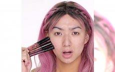 Po co arsenał kosmetyków, wystarczą pomadki. Zobaczcie, jaki makijaż zrobiła ta youtuberka
