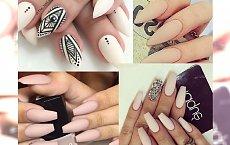 Cielisty manicure z matowym wykończeniem