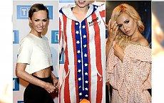 Doda w dziwnej sukience, był też strój klauna i za długie nogawki. Gwiazdy na konferencji przed festiwalem w Opolu