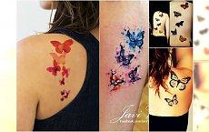 Tatuaż motyle - najpiękniejsze wzory: kolorowe, czarno-białe, 3D