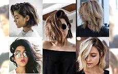 Średnie fryzury messy hair - Włosy najładniej prezentują się potargane wiatrem!