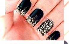 Czarno złoty manicure - manicure,  który doda Ci klasy