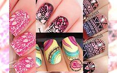 Nail art manicure - urocze, kolorowe wzorki w sam raz na letni dni