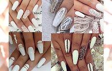 Biały manicure z delikatnymi ozdobami - styl i elegancja w jednym