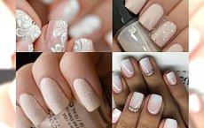 Przepiękny, delikatny manicure ślubny - nasze indpiracje