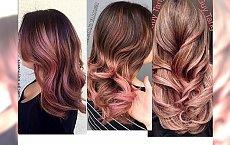 Koloryzacja rose gold dla brunetek