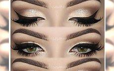 Wieczorowy, złoty makijaż dla  wszystkich barw oczu