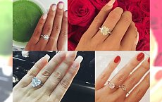 Najcudniejsze pierścionki zaręczynowe gwiazd. A mówią, że rozmiar nie ma znaczenia...