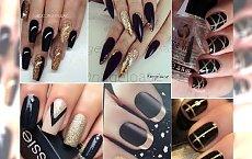 Stay classy, czyli czarno-złoty manicure na wszystkie okazje