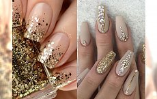 STAY CLASSY: gold nude manicure