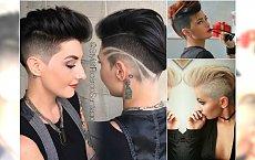 Stylowo wygolone fryzury undercut z irokezem i grzywką