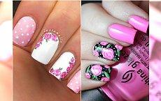 Róże i groszki - paznokcie w stylu chabby chic. Słodszych wzorów nie widziałyście!