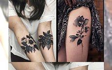 Tatuaże czarne kwiaty - eleganckie, wyrafinowane wzory, które was urzekną