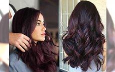 Plum hair - śliwkowy odcień, który podbił serca Internautek