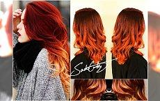 Miedziane ombre - modna i zachwycająca koloryzacja włosów na jesień