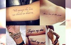 Tatuaże napisy - galeria dziewczęcych inspiracji