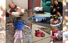 Dzieci potrafią zaskoczyć, jak nikt inny! Zobacz, gdzie zdarza im się zasnąć, a złapiesz się za głowę!!! NIE DO WIARY!