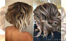 Cieniowany bob z modnymi refleksami. Zakochacie się w tej fryzurze!