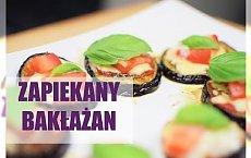 Zapiekany bakłażan z serem i pomidorem