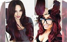 Czerwone ombre -  gorąca propozycja dla pełnych charakteru brunetek
