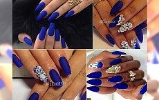 Royal blue nails - wytworny manicure, któremu nie prze się żadna z Was