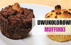 Zdrowe muffinki z mąki kokosowej w dwóch kolorach