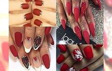 HOT: Czerwone matowe paznokcie - idealny manicure na ŚWIĘTA! Ze zdobieniami i bez - galeria inspiracji