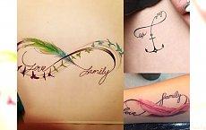TOP 30 nowych inspiracji na tatuaż z symbolem nieskończoności!