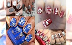 25 inspiracji na świąteczny manicure! Najbardziej urocze wzorki na Boże Narodzenie 2016!