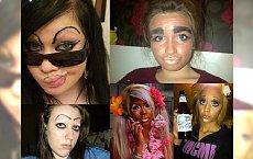 18 STRASZNYCH makijaży, które kolą w oczy! Ciężko nam uwierzyć, że ktoś może tak wyjść na ulicę!