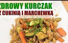 Pomysł na zdrowy obiad: zdrowy kurczak z cukinią i marchewką