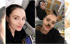 Marina Łuczenko w samolocie pierwszej klasy. Złocenia, kwiaty, jednym słowem LUKSUS!
