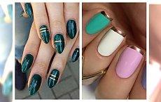 Elegancki manicure ze złotym zdobieniem podbije Wasze serca! Zobaczcie naszą galerię inspiracji