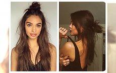 Half bun-  koczek z rozpuszczonymi włosami! Fryzura, która zdobyła  serca kobiet na całym świecie - pamiętacie jeszcze?