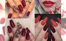 Red Matte Manicure - hot propozycje na początek nowego roku