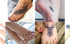 Kobiecy tatuaży na stopie - warto pomyśleć o nim przed latem! Galeria fantastycznych inspiracji