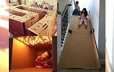 16 pomysłów na wykorzystanie kartonu, które pokochają Twoje dzieci! Labirynty, zamki, kuchenki... Możesz zrobić WSZYSTKO!