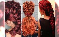 Warkocz i rudy kolor włosów - najpiękniejsze połączenie na zimę