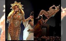 Ciężarna Beyonce na rozdaniu nagród Grammy. Triki z krzesłem przerosły oczekiwania fanów. Przedzadziła?